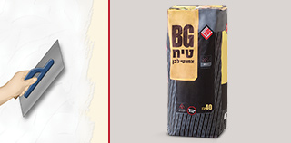 BG cement plaster rejects water